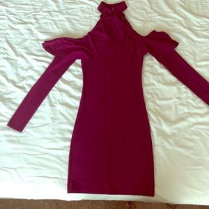 Size small open shoulder dress